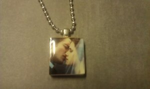 Edward and Bella Wedding Scrabble Tile Necklace Breaking Dawn