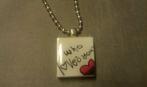 Who Loves You Scrabble Tile Necklace