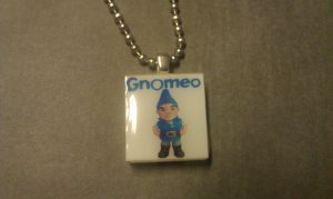 Gnomeo Scrabble Tile Necklace Gnomeo and Juliet