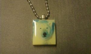 Polar Bear Scrabble Tile Necklace