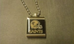 New Orleans Saints Scrabble Tile Necklace