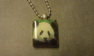 Panda Bear Scrabble Tile Necklace
