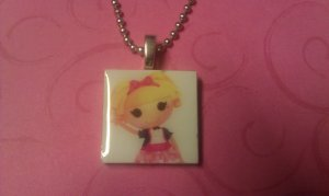 La La Loopsy 1 inch Tile Necklace Misty Mysterious