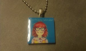 Junie B. Jones 1 inch Tile Necklace Toothless Wonder