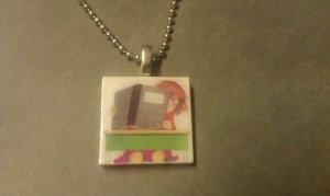 Junie B. Jones 1 inch tile necklace first grader