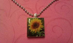 Sweet Sunflower Scrabble Tile Necklace