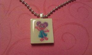 Abby Cadabby  Scrabble Tile Necklace