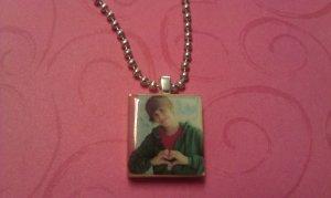Justin Bieber Heart Scrabble Tile Necklace
