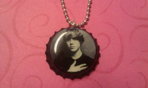 Justin Bieber Bottle Cap Necklace black white