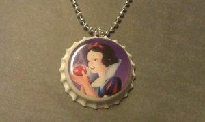 Princess Snow White  Bottle Cap Necklace