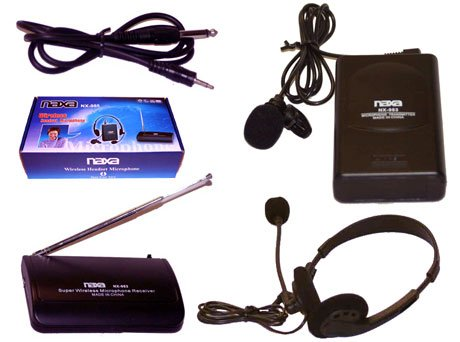 Dynamic Wireless Headset Microphone
