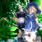 Larqe Girl Carry Lantern Solar Light