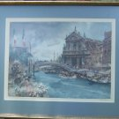 "Sir William Russell Flint Pencil Signed ""Venetian Festival"""