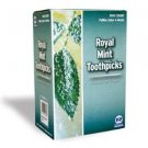 Royal Mint Wood Toothpicks Individually Cellophane Wrapped (1000 pack)