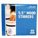 "Royal Wood Coffee Stirrers, 5-1/2"" Long, Woodgrain, 1000 Stirrers/Box"