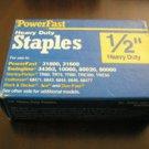 "Powerfast 1/2"" Heavy Duty Staples Staple - 1000 Count Box"
