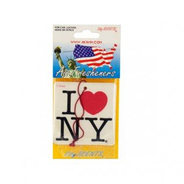 I Love Luv New York NY Car Auto Air Freshener