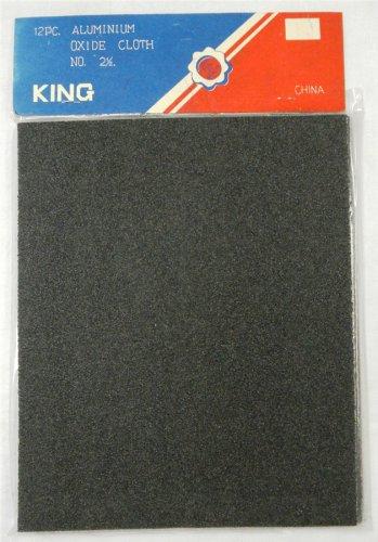 "Aluminum Oxide Cloth Sandpaper (12 pack 11""x9"") 24 Grit"