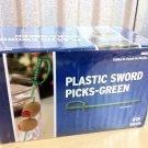 1000 Count Green Royal Plastic Sword Picks Toothpicks