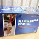 1000 Count Red Royal Plastic Sword Picks Toothpicks