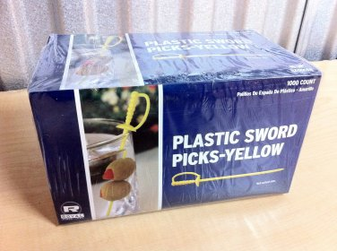 1000 Count Yellow Royal Plastic Sword Picks Toothpicks
