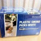 1000 Count White Royal Plastic Sword Picks Toothpicks