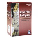 Royal Plain Wood Toothpicks Individually Cellophane Wrapped (1000 pack)