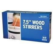 "Royal Wood Wooden Coffee Stirrers, 7-1/2"" Long, Woodgrain - 500 Stirrers/Box"