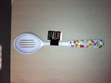 Melamine Kitchen Serving Utensil - Slotted Serving Spoon