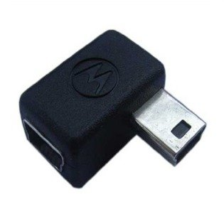 NEW OEM MOTOROLA SKN6182A RIGHT ANGLE ADAPTER EMU MINI-USB