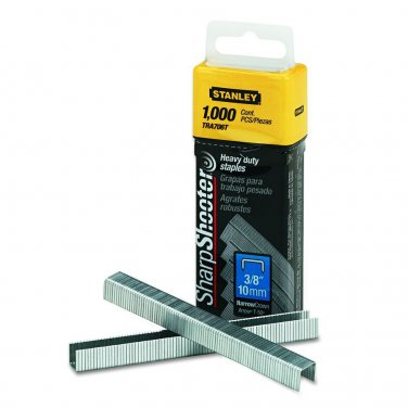 """Stanley Sharpshooter Heavy Duty TRA706T Staples 3/8"""" 10mm 1000 Count Pack"""