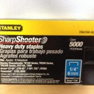 "Stanley TRA704-5C Sharpshooter Heavy Duty Staples 1/4"" Narrow Crown 5000 Ct Box"