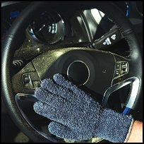 Clean Green Microfiber Cleaning & Dusting Gloves for Automobiles & Trucks