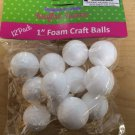 "Styrofoam Foam Craft Balls 1"" 12 Pack"