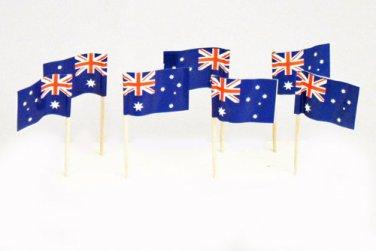 "100 Australian Australia Mini 2.5"" Flag Appetizer & Party Decoration Toothpicks"