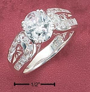 CUBIC ZIRCONIA HORSESHOE SHAPE 9MM (SR-1779)