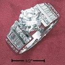 CUBIC ZIRCONIA RING 7.5 MM (SR-1775)