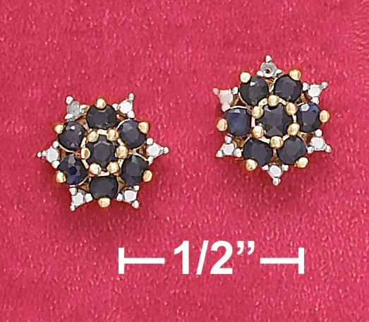 SAPPHIRE POST EARRINGS (EA-3466)