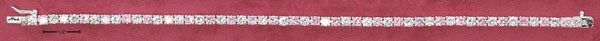 CLEAR AND PINK ROUND CZ BRACELET (BR-2505)