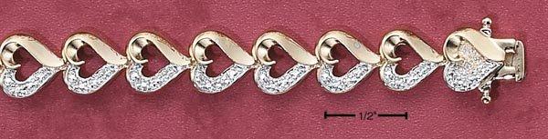 ILLUSION HEART LINK BRACELET (BR-2171)