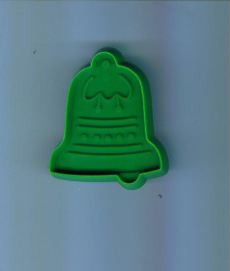Old Vintage Plastic Hallmark Cookie Cutter Cutters ~ Small Green Bell with Handle