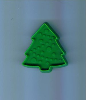 Vintage Plastic Hallmark Cookie Cutter Small Pine Evergreen Christmas Tree with Handle locupst