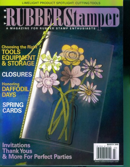Rubber Stamping The Rubber Stamper Magazine March 2006 Mint Copy Back Issue