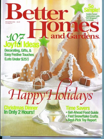 Better Homes and Gardens December 2006 Mint Copy Back Issue