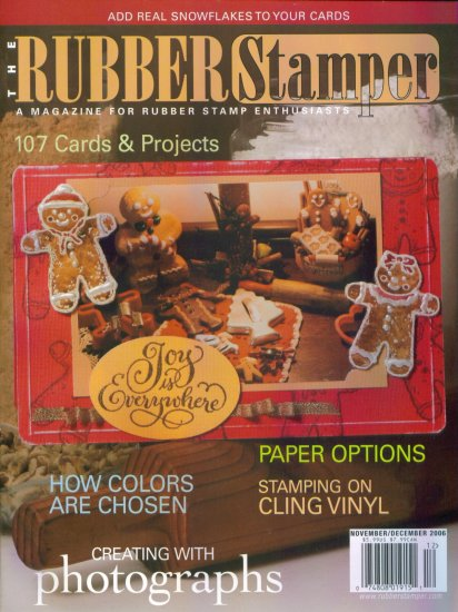 Rubber Stamping The Rubber Stamper November December 2006 Mint Copy Back Issue