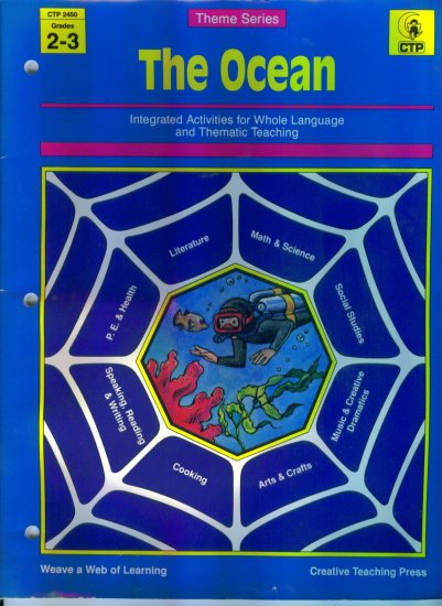 Creative Teaching Press CTP Theme Series The Ocean Grades 2 - 3 Whole Language Thematic Teaching