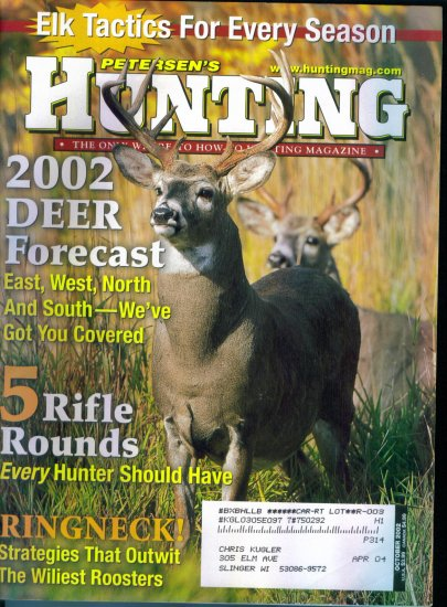 Petersen's Hunting Magazine October 2002 Gently Read Copy Back Issue