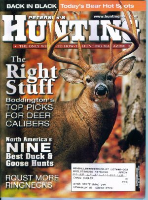 Petersen's Hunting Magazine September 2003 Gently Read Copy Back Issue