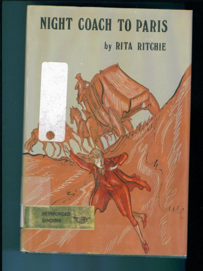 Night Coach To Paris by RIta Ritchie Ex Library Edition Hardcover Like New First Edition