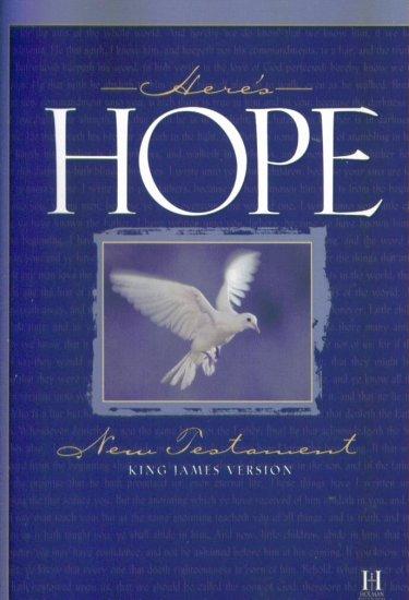 Here's Hope New Testament King James Version KJV PB New Easter Gift